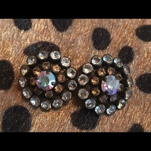 Sorrelli Stardust Antique Gold Stud Earrings